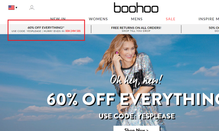 Boohoo: 60% Off Everything!