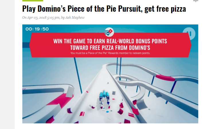 Domino's Pizza: Piece of the Pie Rewards