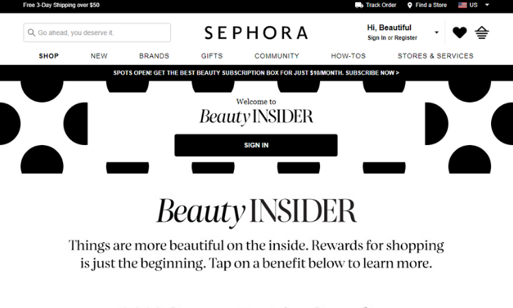 Sephora: Beauty INSIDER