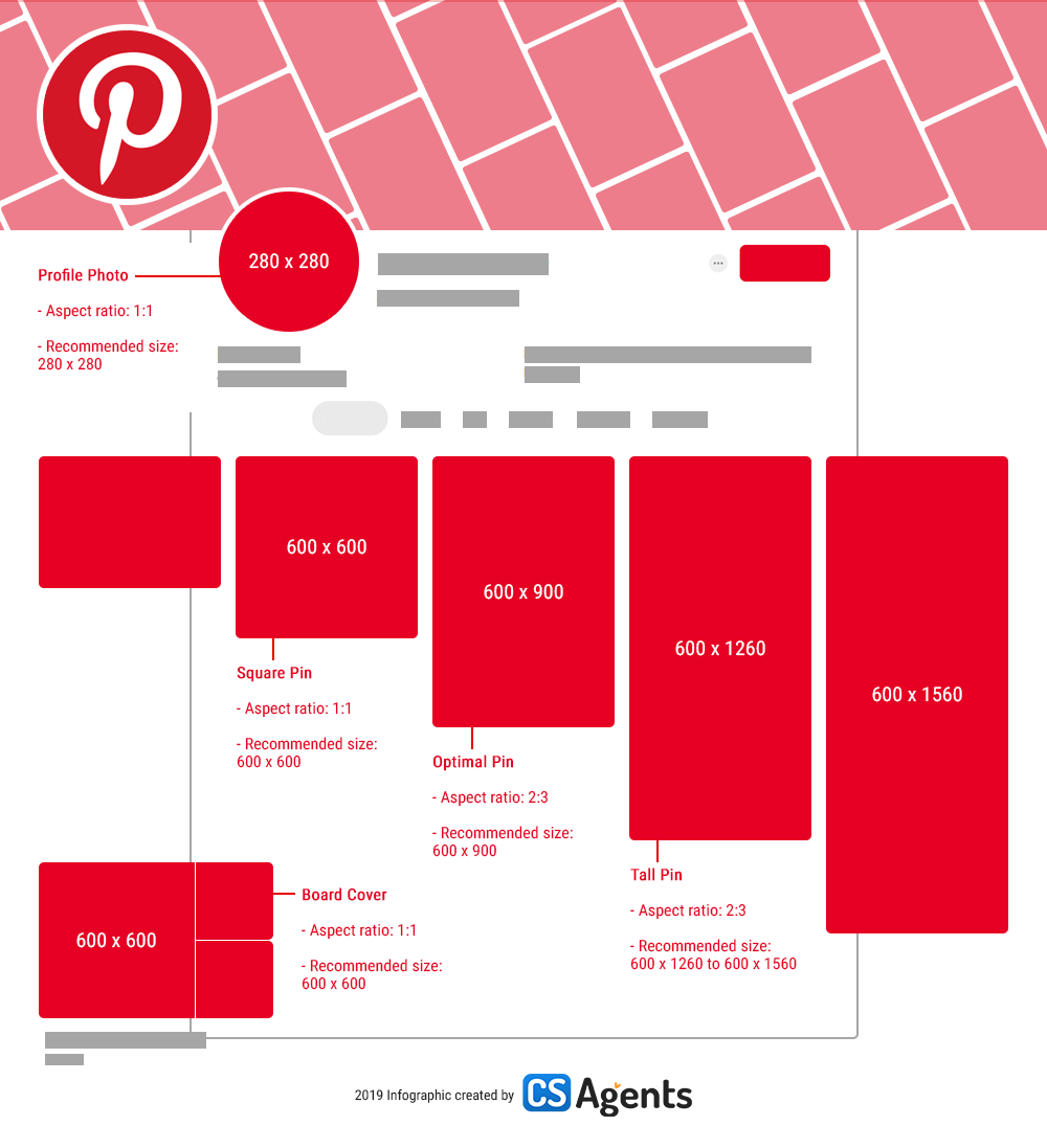 2019 Social Media Cheat Sheet for Image Sizes (Infographic