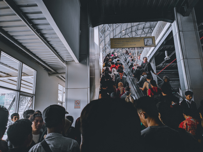 A crowded station in Jakarta, Indonesia (Source: Unsplash)